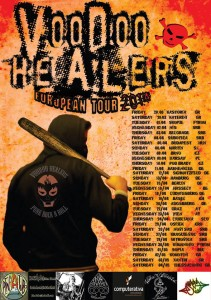 Voodoo Healers European Tour Poster March-April-May 2014. JPEG Full Dates March 7th